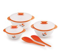 BMS Lifestyle Aroma Designer Food Safe Serving Casserole Orange