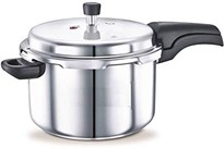 BMS Lifestyle Stainless Steel Pressure Cooker with Outer Lid 3 litres Silver