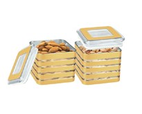 BMS Lifestyle Multipurpose Dryfruits and Snacks Serving Containers with Lid Set of 2 Pieces